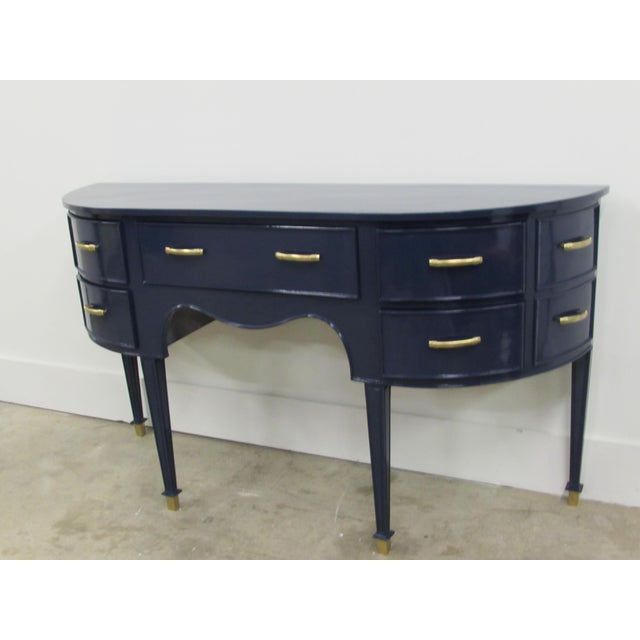 Old Navy Navy Blue Lacquered Mahogany Sideboard - Image 5 of 6