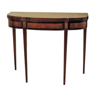 Inlaid Sheraton Game Table For Sale