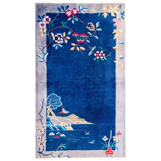 Early 20th Century Antique Art Deco Rug For Sale