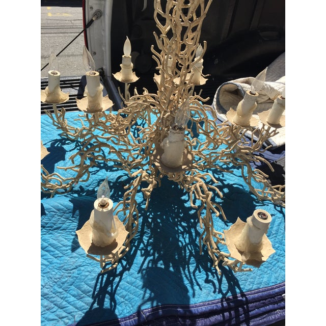 Vintage Bruce Eicher Twig Chandelier 12 Light As-Is For Sale - Image 10 of 12