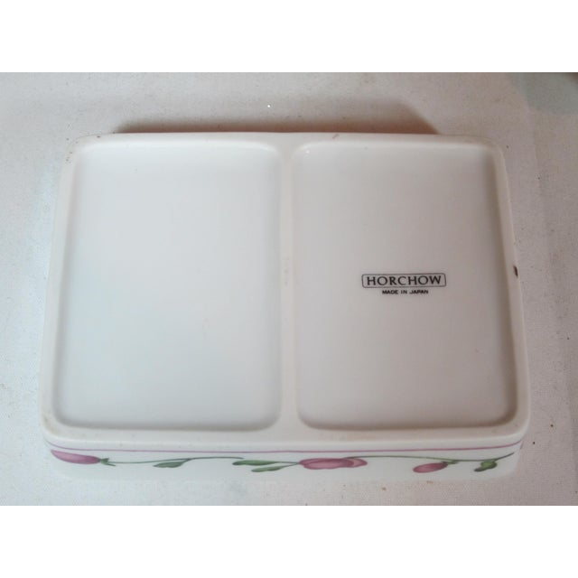 1970s Horchow Porcelain Card Box With Cards For Sale - Image 5 of 6