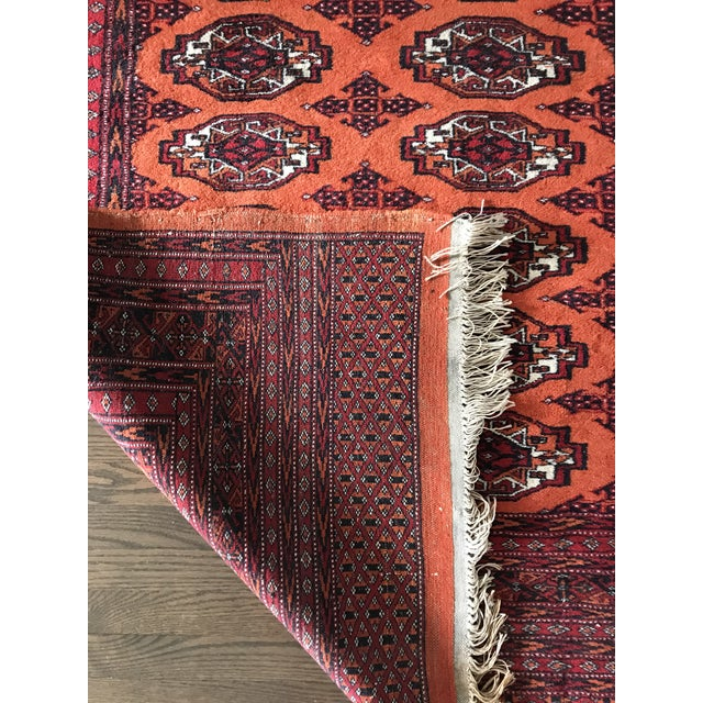 Hand Knotted Vintage Rug - 4′ × 6′2″ For Sale - Image 6 of 8
