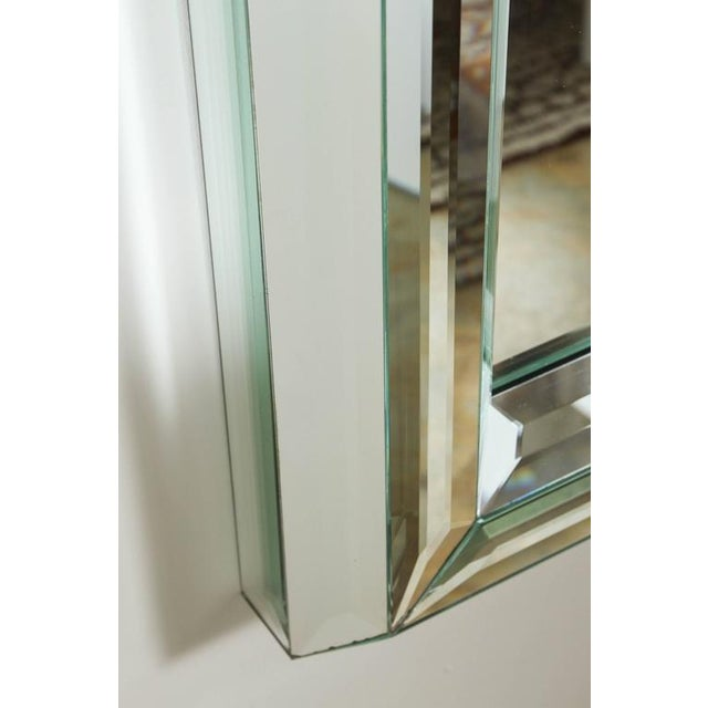 Large All-Glass Wall Mirror For Sale - Image 4 of 7