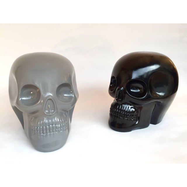 Stool Skull in Grey Ceramic by Antonio Cagianelli, Contemporary For Sale - Image 6 of 12