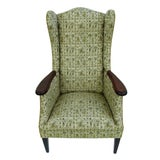 Image of Mid-Century Fireside Wingback Chair For Sale