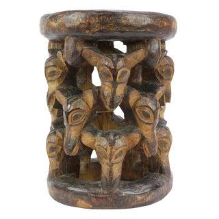 Abebi Yoruba Carved Stool For Sale