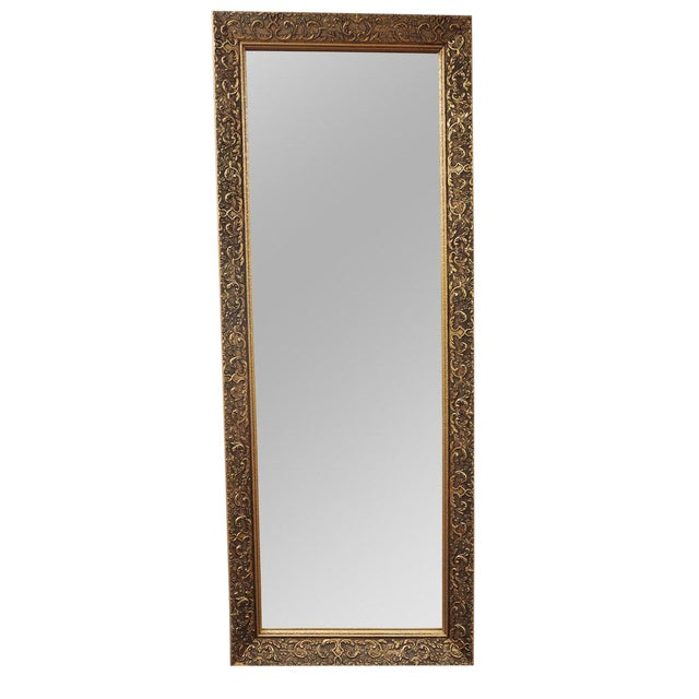 Long Gilded Mirror c. 1910 For Sale