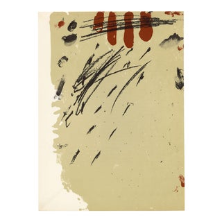 """""""Composition"""" by Antoni Tapies, Original Lithograph From """"Derriere Le Miroir No. 175"""" (1968) For Sale"""