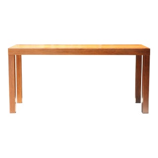 Patched Burlwood Console Table For Sale