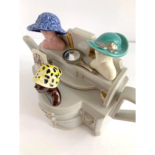 Vintage Richard Parrington Novelty Teapot Mode De Paris For Sale - Image 4 of 13