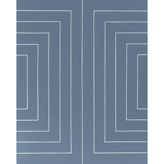 Blue Mirror by Artist Leslie Saris For Sale