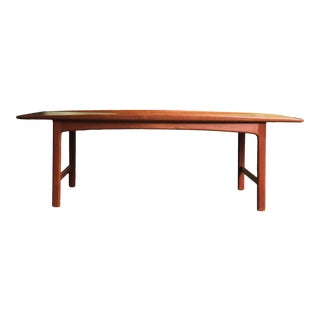1960s Mid-Century Modern Folke Ohlsson for Tingstroms Teak Frisco Surfboard Coffee Table For Sale
