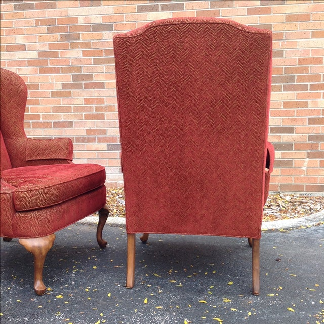Walter E. Smithe Wingback Chairs - Pair For Sale - Image 9 of 10