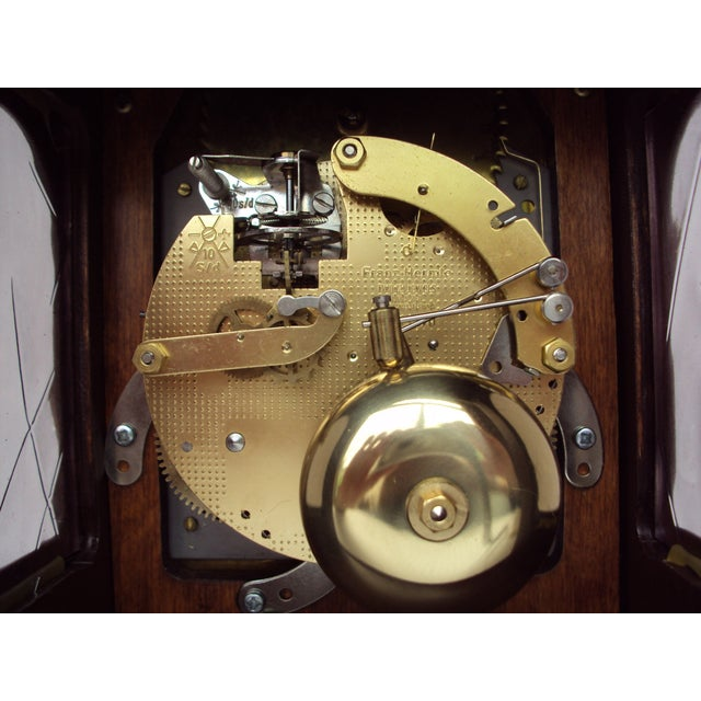 Vintage Franz Hermle Mantle Clock For Sale In New York - Image 6 of 7