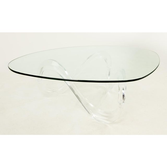 Mid 20th Century Knut Hesterberg Lucite Noguchi Style Coffee Table For Sale - Image 5 of 5