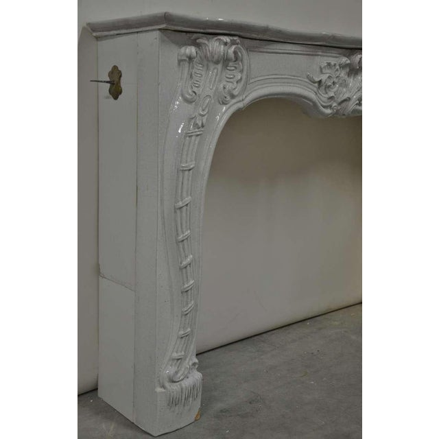 Mid 19th Century -Unique - 19th c. Porcelain French Rococo Fireplace For Sale - Image 5 of 11