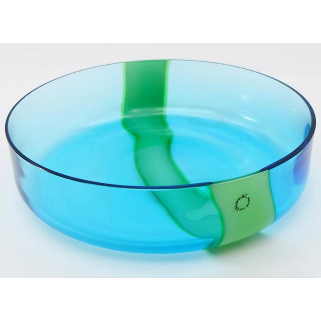 Murano Vintage Hand-Blown Murano Glass Bowl by v. Nason & Co. For Sale - Image 4 of 7
