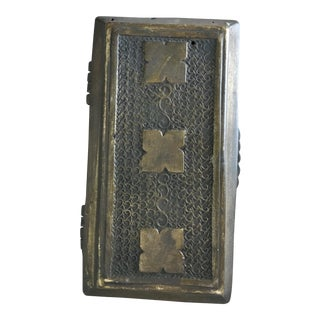 1920s Japanese or Indian Aged Brass Box For Sale