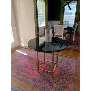 Hollywood Regency Marble and Gold Accent Table Preview