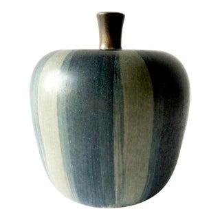 Rupert Deese California Studio Pottery Ceramic Apple Sculpture For Sale