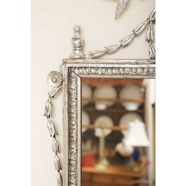 Italian 1920s Silver Leafed Italianate Mirrors - a Pair For Sale - Image 3 of 5
