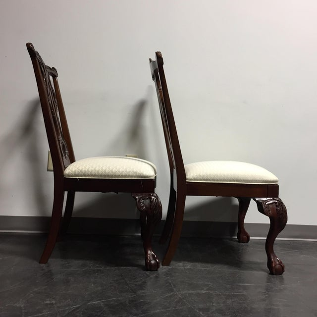Thomasville Mahogany Collection Ball & Claw Dining Chairs - A Pair - Image 9 of 11