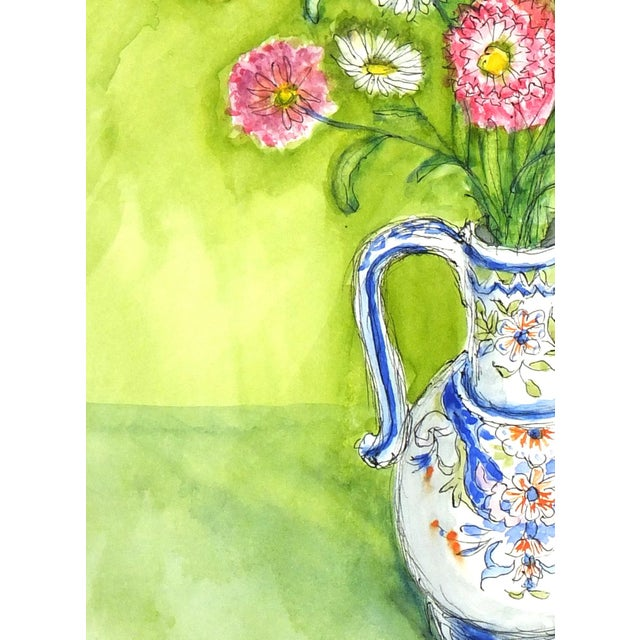 Floral Still Life Watercolor Painting - Image 3 of 4