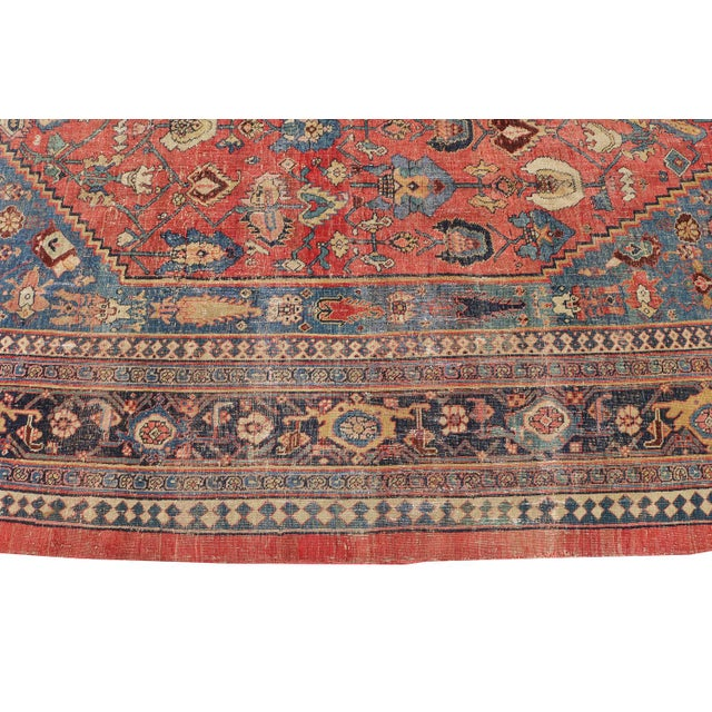 "Islamic Antique Persian Bijar Rug-7'6""x10'10"" For Sale - Image 3 of 7"