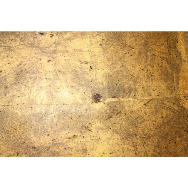 Pair of Mid-Century Faux Bamboo Gold Leaf Tray Top Tables For Sale - Image 10 of 13