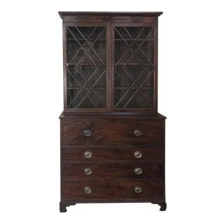 Secretary/Bookcase, 19th Century Antique English in Mahogany For Sale