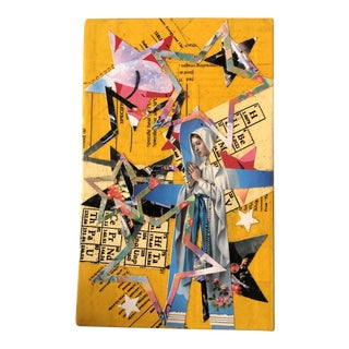 Original Contemporary Wayne Cunningham Abstract Madonna Hands Across America Collage For Sale