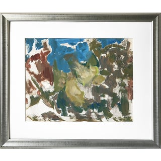Harold C. Davies California Abstract Modernist Composition Mid Century Art For Sale