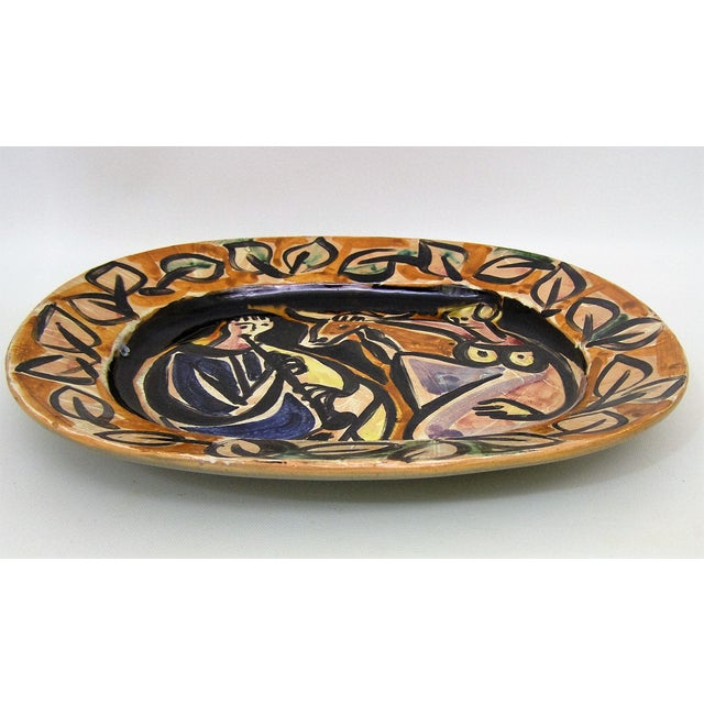 Picasso Style Mid-Century Modern Ceramic Wall Plaque Sculpture Plate MCM - Image 3 of 11