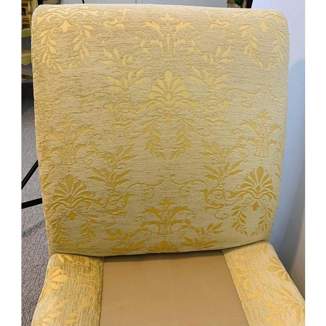 Wood French Art Deco Style Yellow Gold Bench or Window Seat After Dominique, a Pair For Sale - Image 7 of 13