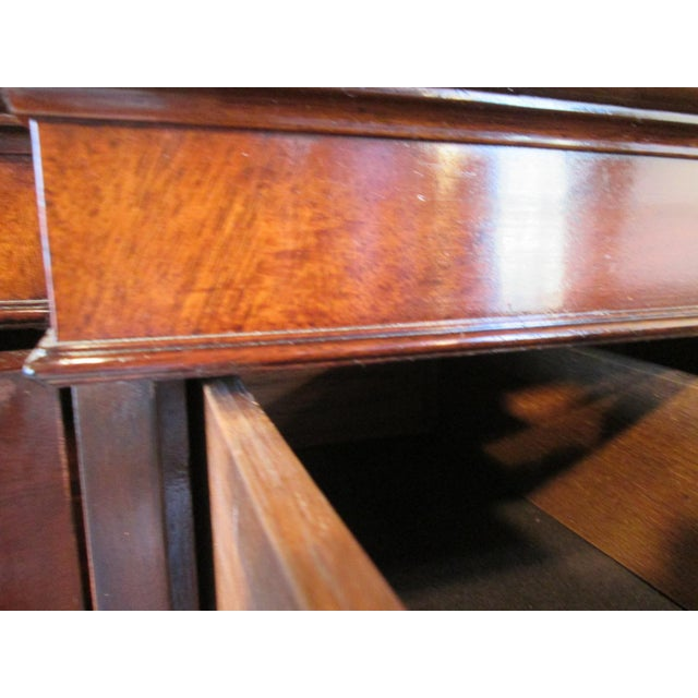Old Colony Mahogany Breakfront Cabinet For Sale - Image 9 of 11