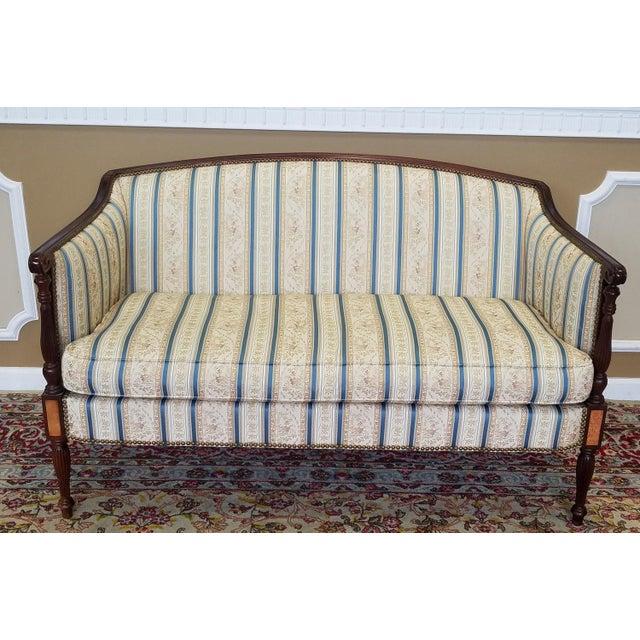 Fantastic Hickory Chair Company James River Collection Sheraton Mahogany Loveseat - Image 2 of 9