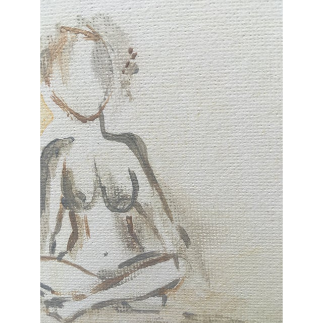 Neutral Nudes, No. 1 Original Acrylic Painting - Image 6 of 8