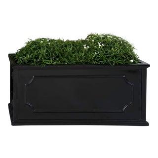 Andover Window Box, Medium, Glossy Black For Sale
