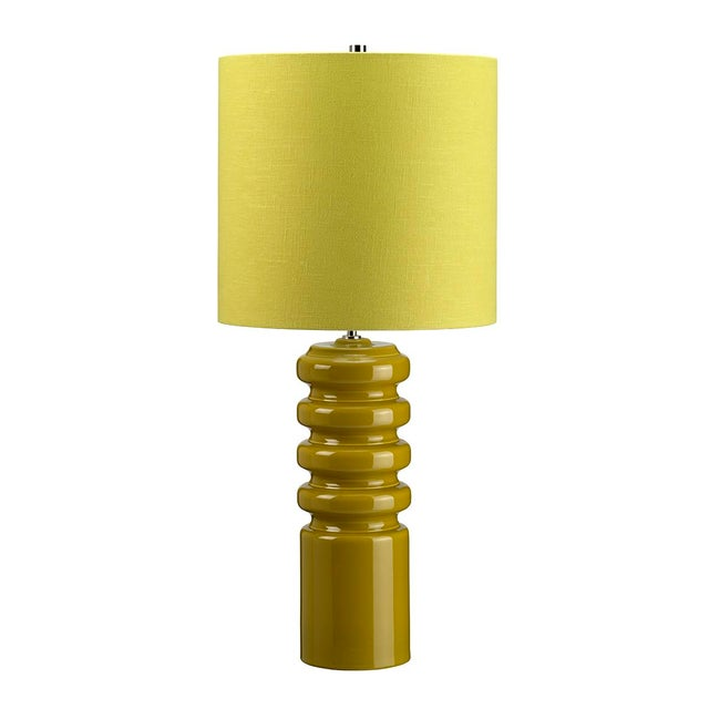 Mid-Century Modern Contour Lime Table Lamp - Image 3 of 3