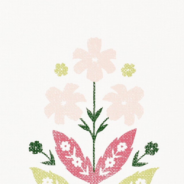 Contemporary Sample - Schumacher Floweret Paperweave Wallpaper in Summer For Sale - Image 3 of 3