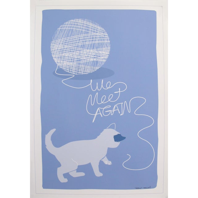 2010s 2019 Modern Retro Poster, We Meet Again - Cat and Yarn For Sale - Image 5 of 5