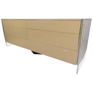 Stylish Modern Lucite Frame Dresser in the Style of Milo Baughman For Sale