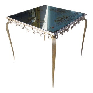 Églomisé Mirrored Game Table in the Manner of Rene Drouet For Sale