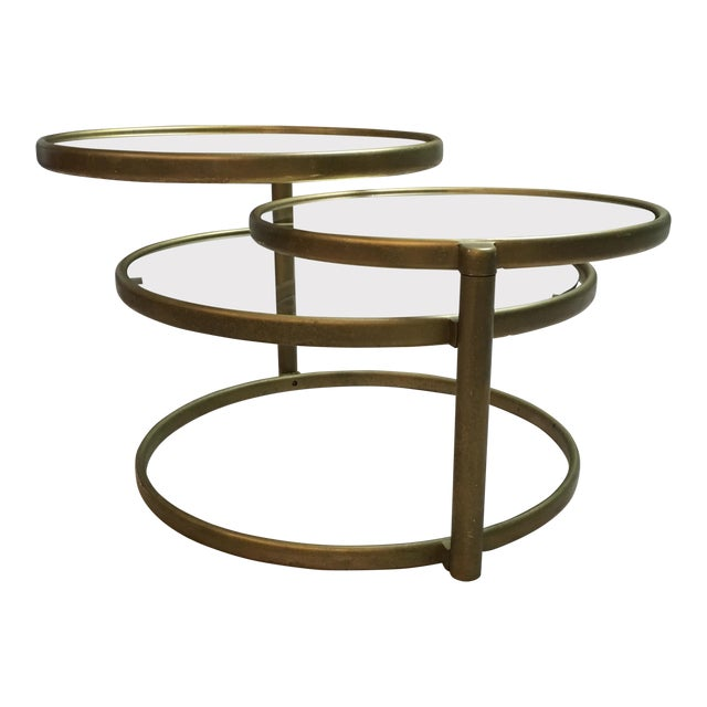 Vintage Industrial Space Age Coffee Table For Sale At Pamono: Milo Baughman Style Double Swivel Coffee Table
