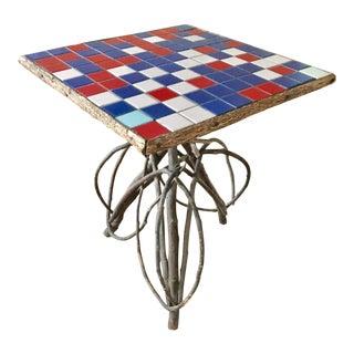 Adirondack Twig & Mosaic Tile Side Table