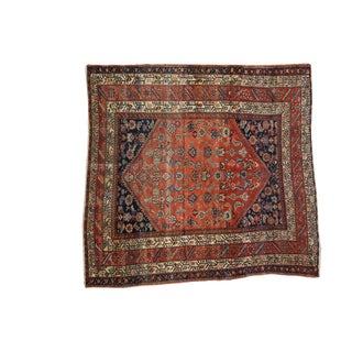 "Antique Fine Malayer Square Rug - 5'8"" X 5'8"" For Sale"