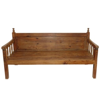 Anglo-Indian Teak Bench Daybed 19th Century For Sale