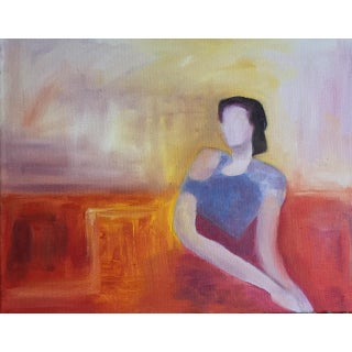 Original Waiting Around Oil on Canvas Painting Preview