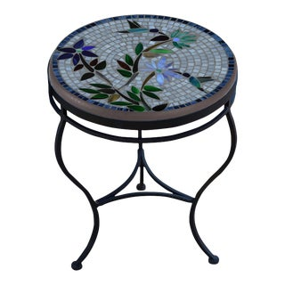 """Royal Hummingbird 18"""" Side Table with Black Base For Sale"""