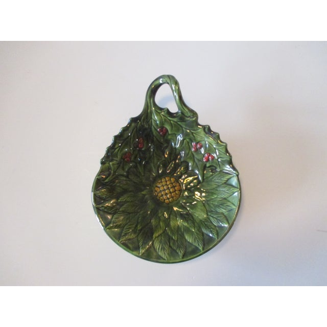 2000 - 2009 Vintage Decorative Holy Candy Green Dish For Sale - Image 5 of 5